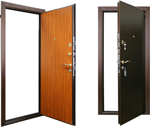металлические двери без